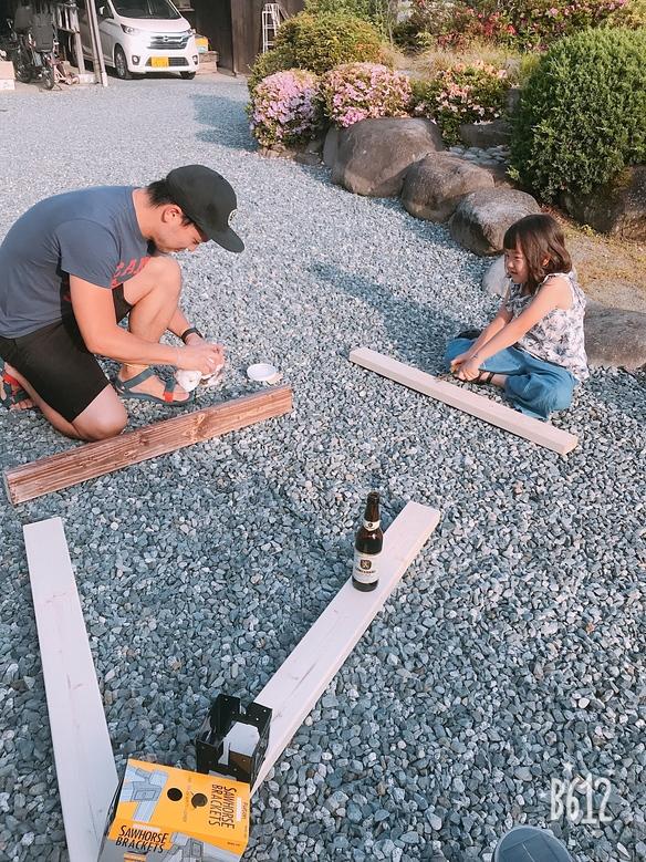 ただいま木製サイクルスタンド作成中
