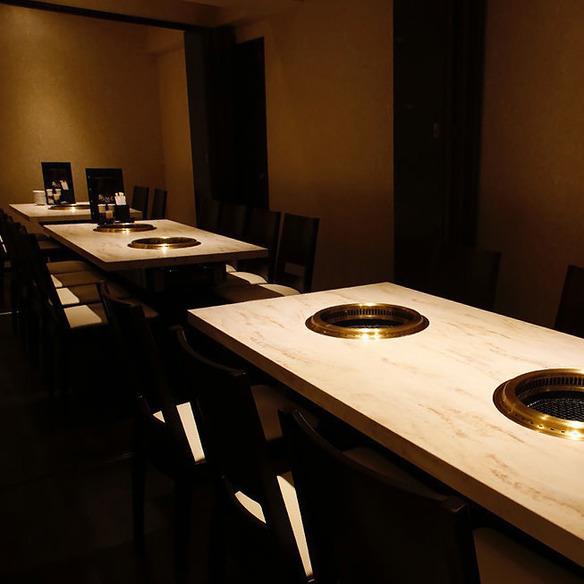 【1F】焼肉店のイメージを覆す上質個室空間 4名様~8名様