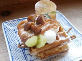 「マロンフェア.2018」 今年は素材の味をシンプルに…マロンの秋ワッフル ¥850