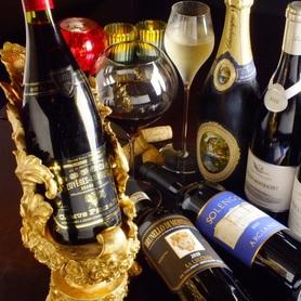 グラスワインのペアリングが一番人気です。