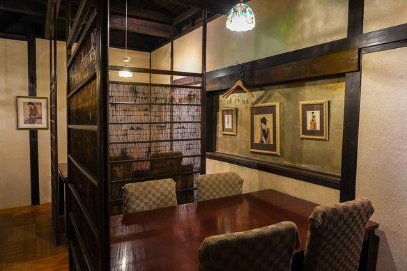 通称「竹久夢二の部屋」大正浪漫の雰囲気