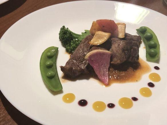 ディナー2day'sのお肉料理 子羊のもも肉のぐりえ