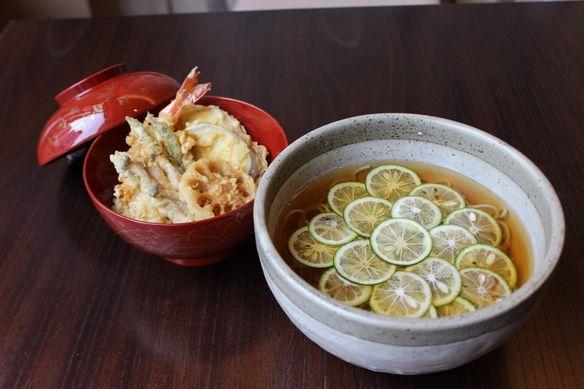 【夏季限定】「すだちそばと小天丼」 1,700円(税別)