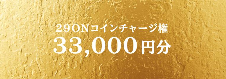 29ONコイン33,000円分チャージ権