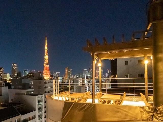 タワーにヒルズ、TOKYOの夜を一望するオシャレビアガーデン。麻布十番『Rooop』