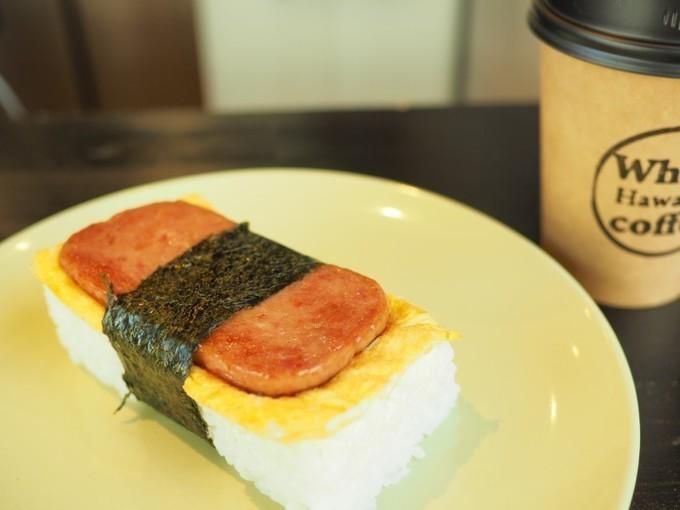 【十三】ミニサイズでもお腹は満足!チーズとお肉がタップリ詰まったハンバーガー『フーズハワイアンコーヒー』