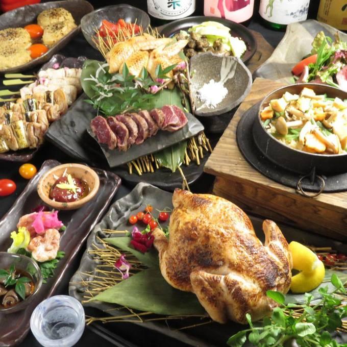 【なんば】ふわふわの特大つくねを始め、串焼き・トロ肝・炙り、地鶏を丸ごと味わい尽くす!『六角鶏』