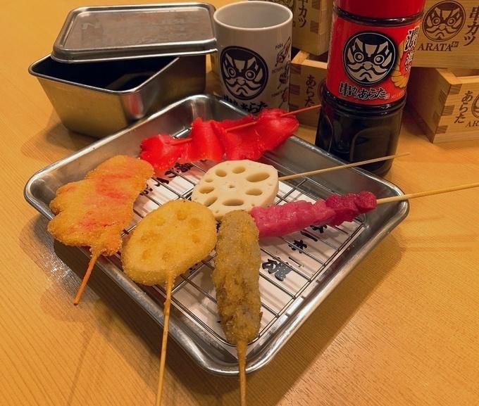 【12/1〜】串20種が食べ放題!軽い食べごたえが魅力の串かつを神田『あらた』で!